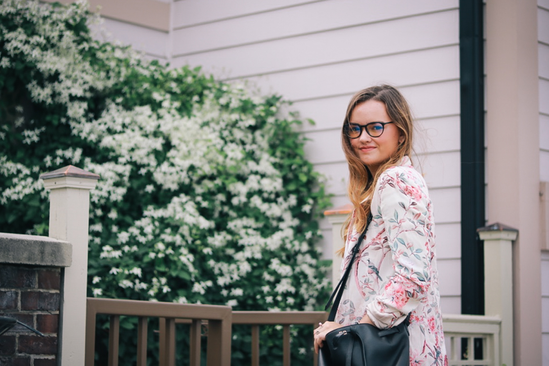 My go to Study tricks wearing Zara Floral Blazer