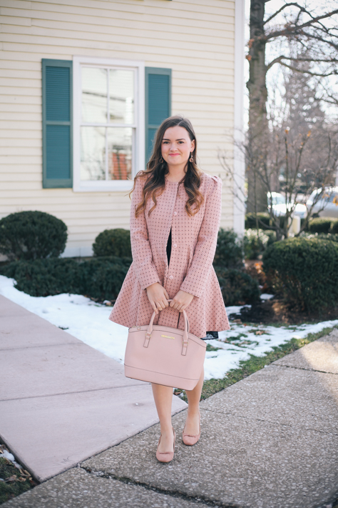 Love A Little Black Dress with a Pink Structured Jacket