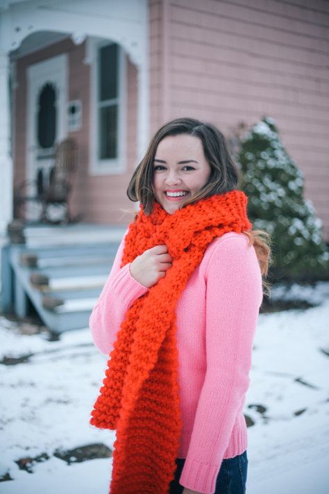 Love the Red Pink Combo when layering this winter with JCREW