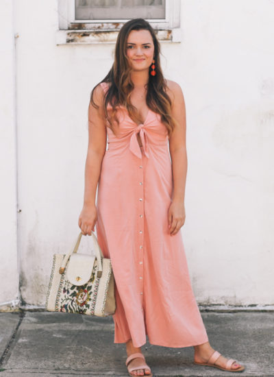 Pink Tie Front Dress and the Perfect Beach Dresses