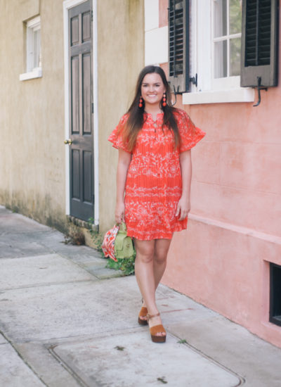 Red Spring Dress in Charleston