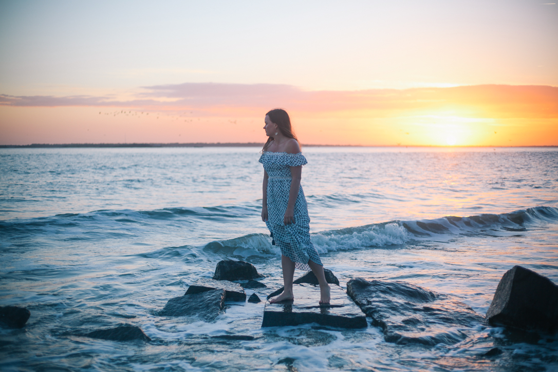 Maxi Dresses for Spring and Summer | Rachel Broas of Simplypoisedfashion.com @rachellaurenlucy | Saylor Rent the Runway Dress #myrtr and Seagrass Tote with Loft Sandals at Sullivan's Island and Fort Moultrie