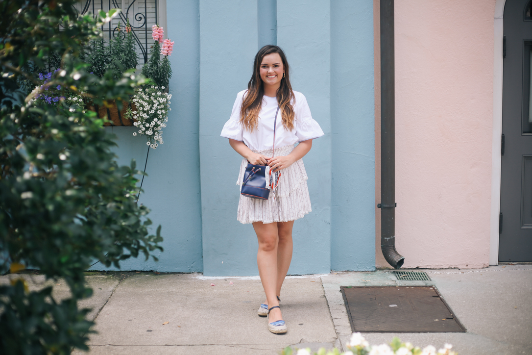 Spring Skirt Favorites in Moon River Skirt from Maude, J Crew Top and Anthropologie Espadrilles in Charleston by Rainbow Row | @rachellaurenlucy | simplypoisedfashion.com