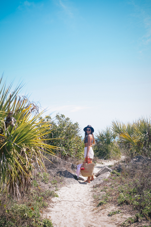 Beachwear of the Season and the Must- Have Swimsuits | Rachel Broas @rachellaurenlucy of Simplypoisedfashion.com Simply Poised | Fashion Lookbook | Banana Republic Floral Bikini, Loft Red Bikini, Old Navy Sandals on Sullivan's Island, South Carolina