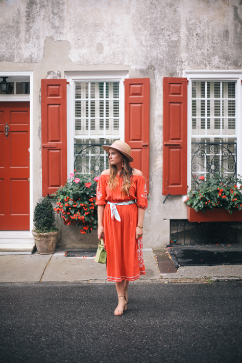 Red Dresses of Summer in Charleston | Simplypoisedfashion.com Simply Poised @rachellaurenlucy | Tularosa Off Shoulder Dress, Target Heels in Charleston, SC