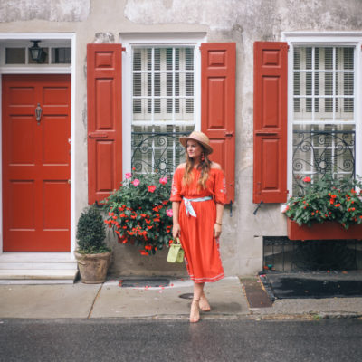 Red Dresses of Summer in Charleston