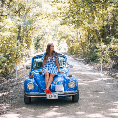 Vintage Blue Bug Convertible Rides